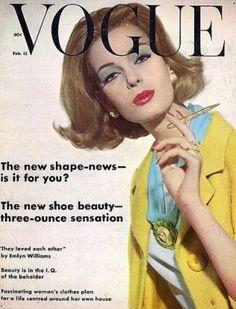 Vintage Vogue magazine covers - mylusciouslife.com - Vintage Vogue UK February 1962.jpg