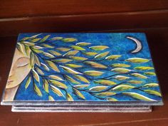 Cofre de madera Boxes, Painting, Wooden Chest, Logs, Decorative Boxes, Painted Boxes, Singer, Dibujo, Paintings