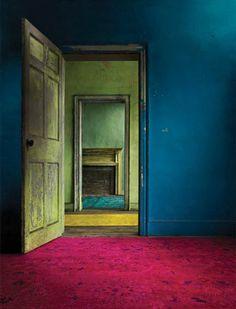 Interior Color. blue and red color interior
