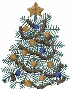 This free embroidery design is a Christmas Tree. Thanks to Ann the Gran for posting it.