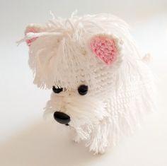 Mira este artículo en mi tienda de Etsy: https://www.etsy.com/es/listing/190864936/hecho-a-pedido-perro-westie-amigurumi