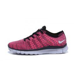 Köpa Nike Free Flyknit NSW Billig Ny Dam Löparskor Persika Svart Online SE