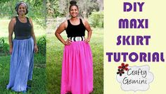Crafty Gemini: Maxi Skirt DIY Video Tutorial