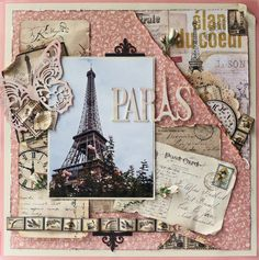 #Graphic45 paper collections: Once Upon a Springtime & Curtain Call Designed by: Gloria Stengel: Scraps of Life: Paris in Pink - Imaginarium Designs