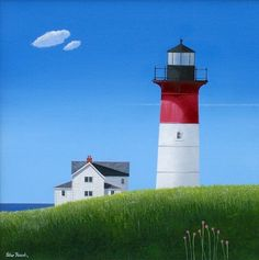 Cape Cod Light by British Contemporary Artist Peter HEARD
