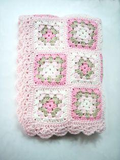 Baby Blanket Newborn Photography prop Handmade Crochet by nerina52