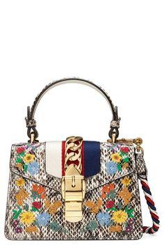 f9e35bfffe9 Beautiful Gucci Mini Sylvie Genuine Snakeskin Top Handle Bag Women s  Fashion Handbags.   3900