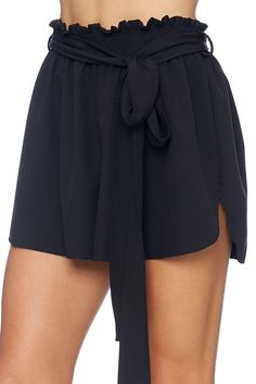 Black Flouncy Shorts