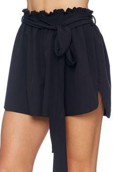 Black Flouncy Shorts