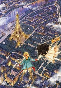 Aeppol Le Petit Prince et Forest Girl 💕 Art And Illustration, Fantasy Kunst, Fantasy Art, Forest Girl, Korean Artist, Book Girl, Anime Art Girl, Cute Art, Art Drawings