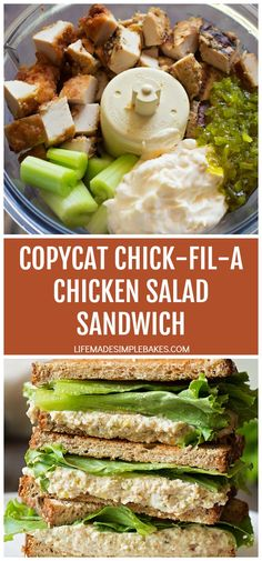 It's time to try this copycat Chick-fil-A chicken salad sandwich at home! You only need 5 ingredients and a food processor It's time to try this copycat Chick-fil-A chicken salad sandwich at home! You only need 5 ingredients and a food processor Chicken Salad Recipes, Soup Recipes, Dinner Recipes, Cooking Recipes, Healthy Recipes, Icing Recipes, Oven Recipes, Chicken Salad Recipe Chick Fil A, Chickfila Chicken Salad