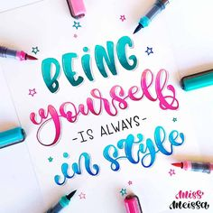 Brush Lettering Quotes, Brush Pen Calligraphy, Hand Lettering Tutorial, How To Write Calligraphy, Watercolor Lettering, Calligraphy Handwriting, Hand Lettering Quotes, Calligraphy Quotes, Creative Lettering