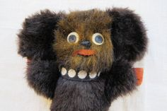 Cheburashka Soviet Vintage Soft Plush Toy. Made in USSR. Cartoon Character. Collectible