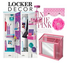 """""""Decorate Your Locker"""" by new-to-style ❤ liked on Polyvore featuring interior, interiors, interior design, home, home decor, interior decorating, BackToSchool and lockerdecor"""