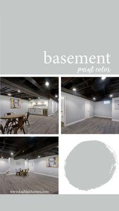 Basement Color Schemes, Basement Paint Colors, Basement Living Rooms, Basement Bathroom, Exposed Basement Ceiling, Cheap Basement Ideas, Finished Basement Designs, Restaurant Facade, Basement Floor Plans