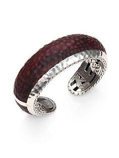 John Hardy - Palu Rose Wood & Sterling Silver Cuff Bracelet