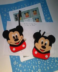 Diy Kit : Mickey Mouse Felt Mobile Pouch