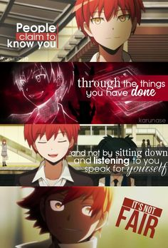 """People claim to know you through the things you've done, and not by sitting down and listening to you speak for yourself. It's not fair.."" 