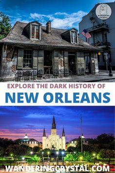 Dark travels in New Orleans, ghost tours in New Orleans, spooky things to do in New Orleans, Spooky things to do in NOLA, New Orleans things to do in, voodoo in New Orleans, haunted hotels in New Orleans, haunted graveyards New Orleans, LaLaurie Mansion, New Orleans voodoo, wanderingcrystal, haunted cemeteries in New Orleans, NOLA haunted places to visit, haunted places to visit in New Orleans, New Orleans vampires, casket girls, scary new orleans #lalaurie #neworleans #nola #ghosttours Us Travel Destinations, Haunted Hotel, Haunted Places, Usa Travel, Hawaii Travel, New York Travel Guide, Travel Tips, New Orleans Voodoo, New Orleans Hotels