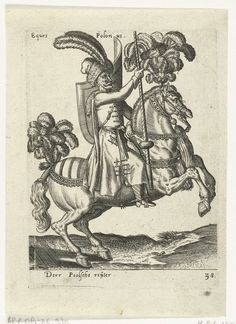 Poolse ruiter, attributed to Abraham de Bruyn, 1577