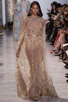 Fairy tale vibes from the Spring 2017 Elie Saab couture collection.