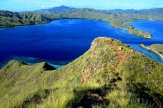 Mountains and blue waters at Komodo National Park