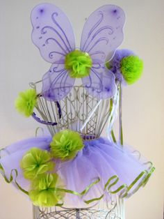 Lilac and Lime Blooming Fairy Tutu Costume Set by whimsywendy, $72.00