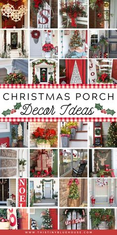 Glam up your porch this Christmas with these stunning festive Christmas Porch Decor ideas. With over 100 festive ideas to choose from you're guaranteed to become the envy of the neighborhood. Country Christmas, Simple Christmas, Christmas Home, Christmas Holidays, Christmas Bathroom, Merry Christmas, Outdoor Christmas Decorations, Holiday Decor, Holiday Crafts