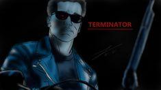 Terminator 2 fan art amateur digital painting