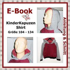 E-Book - KinderKapuzen-Shirt, Größe 104-134 - StoffAkzente Taschen und Accessoires