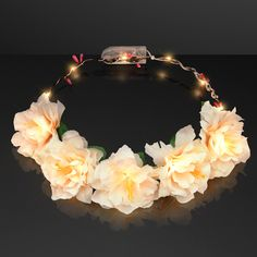 Light Up Flower Crown Headband is the cutest accessory for your EDC festival season this summer! Stay noticed among the dancing crowd and light up the night!