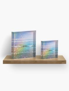 """Dreamy Ocean Waves"" Acrylic Block by ind3finite 