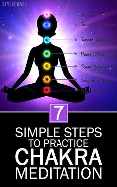 7 Simple Steps To Practice Chakra Meditation : The chakra centers have often been compared with energy motors. The health of every chakra decides our overall well-being. Guided Meditation, Meditation For Health, Walking Meditation, Easy Meditation, Meditation Benefits, Meditation For Beginners, Meditation Techniques, Chakra Meditation, Meditation Practices