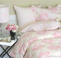 Pretty Pink bedding interior design room design pink room