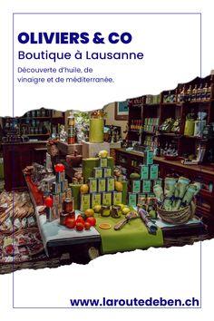 Oliviers & Co est une chaine de magasins mondiale mettant en avant l'huile d'olive et le vinaigre. #olive #vinaigre #suisse #food Lausanne, Olives, Guide Michelin, Squeezed Lemon, Vinegar, Mediterranean Kitchen, Shops, Olive Oil, Switzerland