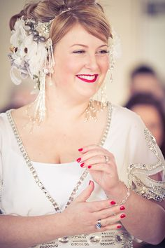 Giant Balloons A Temperley Dress And Glorious Statement Vintage Headpiece Village Hall Weddingscurvy Bridebridal