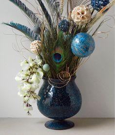 Floral Arrangements Peacock Floral Arrangement by RachelsHeart