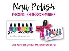 Personal Progress Reminder  Motivator Nail Polish  Printable LDS Young