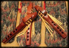 Chardonnay Tinted Native American Pocket Flutes by Artist, Charles Littleleaf