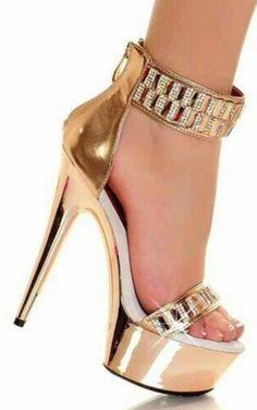 3da532c5b345 24 Best Gold High Heels images
