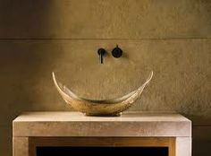 Stone Forest's unique bronze vessels are hand crafted using traditional sand casting methods. Some finishing marks, minor pitting, and small color anomalies are the distinguishing traits of our handcrafted bronze sinks. So beautiful! Vessel Sink Bathroom, Sinks, Vanity Sink, Natural Bathroom, Modern Sink, Kitchen And Bath Design, Bronze, Outdoor Sculpture, Guest Bath
