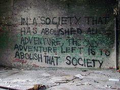 We escape.