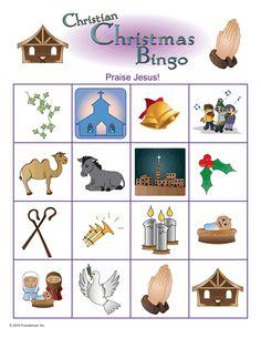 B I N G O on Kindergarten Printables For Jesus Bingo