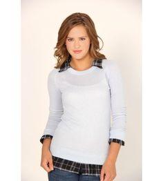 Derek Heart Long Sleeve Sweater w/ Plaid Layer - Sweaters - Juniors #VFOFallFashion