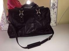 Perlina Soft Black Leather L Hand Bag/tote Bag #Perlina #TotesShoppers