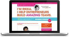 Rikka Brandon Website | Custom Design + Development: http://www.rikkabrandon.com