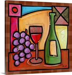 "Celebrate the centuries-old craft of wine-making with artist Eric Waught's ""Wine…"