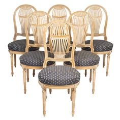 Louis XVI Style Céruse Dining Chairs | JMF #diningroom #diningchairs #antique #french