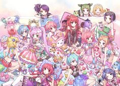Yay, i FINALLY found a Pic of all the Characters. Lolz, let's see there's.. Lala Manaka, Shion Toudou, Cosmo Houjou, Dorothy West, Leona West, Mirei Minami, Eiko, Falulu Vocaldoll, Hanana, Iroha Kagawa, Kuma, Love Tochiotome, Nao, Nene Tokuda, Sophie Houjou, Unicorn, and Usagi. I think that's all the People in this pic.:)