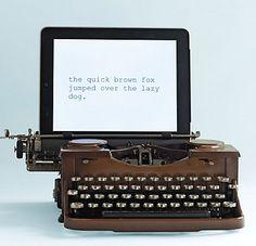 this is just cool looking - restored vintage USB typewriter